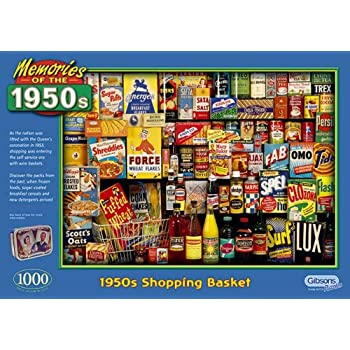 Gibsons puzzle - 1950's Shopping Basket 1000 pieces