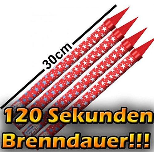 Preisvergleich Produktbild 8 XXL Zaubersterne Eissterne Mega - Zimmerfontäne 120 Sekunden Brennzeit