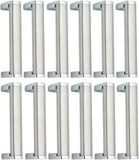 Smart Shophar 4-inch Stainless Steel Cabinet Handle (Silver, Pack of 12)