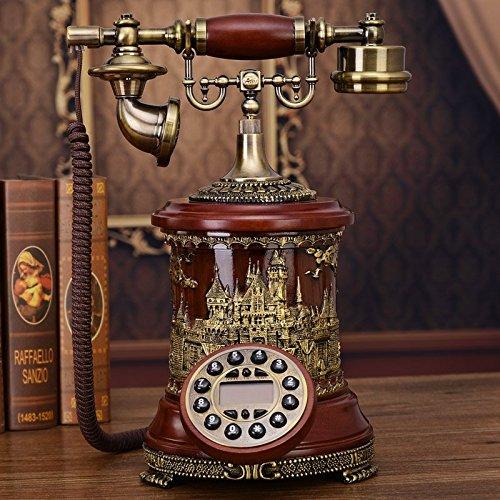 La nuova rete fissa telefono retrò europeo antico High-end telefoni telefono legno classico (High End Telefoni Cordless)
