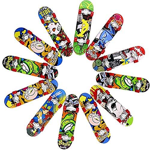 12 Stücke Mini Finger Skateboard Spielzeug Deck Truck Finger Board Skate Park Perfekte Party Tasche Füllstoffe Spielzeug für Kinder Jungen Mädchen -