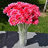 10pcs Artificielle Gerbera Bouquet Fleurs Artificielles Belle