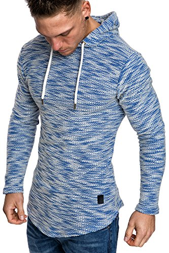 Amaci&Sons Herren Kapuzenpullover Hoodie Sweater Pullover Sweatshirt 4012 Royalblau XXL