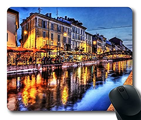 City Hdr 4 Gaming Mouse Pad Personalized Hot Oblong Shaped Mouse Mat Design Natural Eco Rubber Durable Computer Desk Stationery Accessories Mouse Pads For Gift - Support Wired Wireless or Bluetooth Mouse