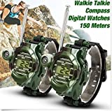 FomCcu 2 Pieces Video Walkie Talkie Watch 7-In-1 Gift Toys for Kids Outdoor