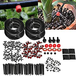 KING DO WAY Micro Flow Drip Watering Irrigation Kits System Self Plant Garden Hose Watering Kits (92m(pro set))