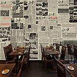 ZCHENG 3D retro tun die alten Zeitung Volkszeitung Wandverkleidung Tapete Republican Army Street Restaurant Dekoration Hintergrund Tapeten, 300x210 cm (118,1 von 82,7 in)