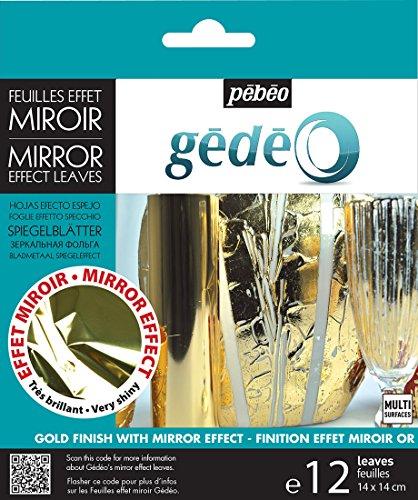 PEBEO 766546 Gedeo Mirror Effect Leaves Klebefolie, Rot 5.5x5.5 in Gold