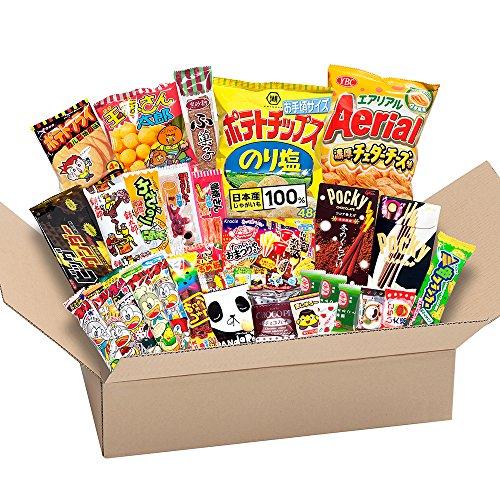 Japanese Wertvolle Partei Snack BOX beliebte set Dagashi Japan Luftschokolade Pocky mit Akiba König Aufkleber -