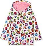 Hatley Girl's Printed Raincoat White (Multicolour Rainbow Ladybirds), 7 Years