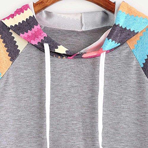 Fulltime® T-shirt imprimé épingles femme de Noël des femmes Gris