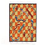 MyTinyWorld Dolls House Miniature Small Childrens Rug With Snakes And Ladders