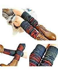 ZUMUii Butterme Ladies Girls Calcetines hasta La Rodilla de Invierno Knit Crochet Warm Leg Warmer(