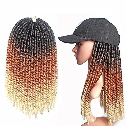 Emmet Crochet Braids Qualité Pre Braiding Twist Box Extension de cheveux Cheveux synthétiques Ombre 24 Inch Résistant à la chaleur 7 Ombre Colors 2 Tone & 3 Tone 1Pcs / lot (Black & Brown & Blonde)