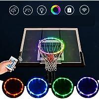 Wenosda LED Basketballkorb Licht, Ferngesteuertes Basketball-Felgenringlicht, 16 Farben Andern, wasserdichte…