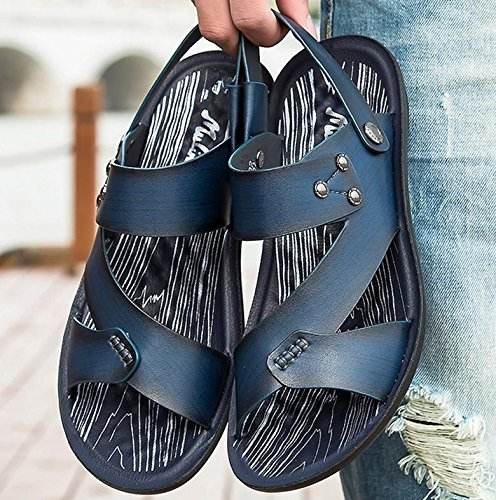 2017 estate nuovi sandali di cuoio casuali degli uomini pistoni della spiaggia uomini traspirante scarpe di grandi dimensioni 2