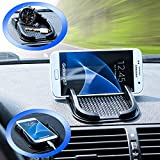 Mobilefox Car Non Slip Pad integ. Phone Holder for Samsung Galaxy J1/J3/J7/A8/A9/Alpha/Duos Black