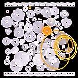 Quimat 75 Tipos de Engranaje Plástico para Bricolaje de Modelos / Robot / Caja de Cambios QY12