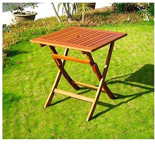 Amicasa. Table de Jardin Pliante en Bois Table carrée 70 x 70 kres