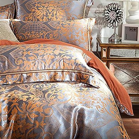GZXCPC Bettzeug/Set Cotton Tencel Jacquard 5 m/1.8 m Bett Tuch Cover (200 * 230cm) , A