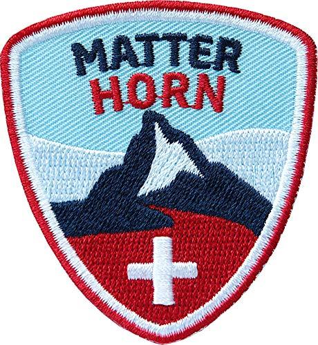 Wandern Wanderkarten (Club of Heroes 2 x Matterhorn Abzeichen 55 x 60 mm gestickt/Bergtour Schweiz Walliser Alpen Zermatt Bergsteigen Wandern Klettern/Aufnäher Aufbügler Sticker Patch/Wallis Reiseführer Wanderkarte)