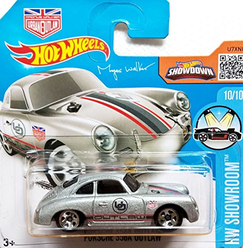 Preisvergleich Produktbild HOT WHEELS® Porsche 356A Outlaw - 1:64 - silber metallic (Edition Magnus Walker Urban Qutlaw)