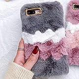 LAPOPNUT Coque pour iPhone 7 Plus 8 Plus Luxe Doux Fourrure Housse Moelleux Fausse...