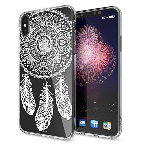 iPhone X Hülle Handyhülle von NICA, Slim Silikon Motiv Case Cover Crystal Schutzhülle Dünn Durchsichtig, Etui Handy-Tasche Backcover Transparent Bumper für Apple iPhone-X - Transparent Dreamcatcher