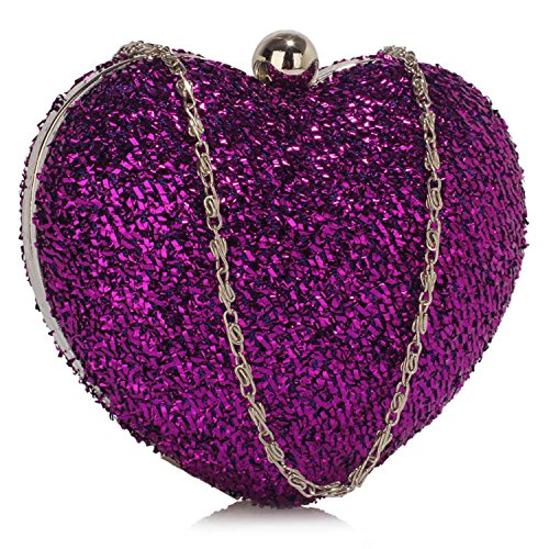 L And S Handbags, Poschette giorno donna Purple