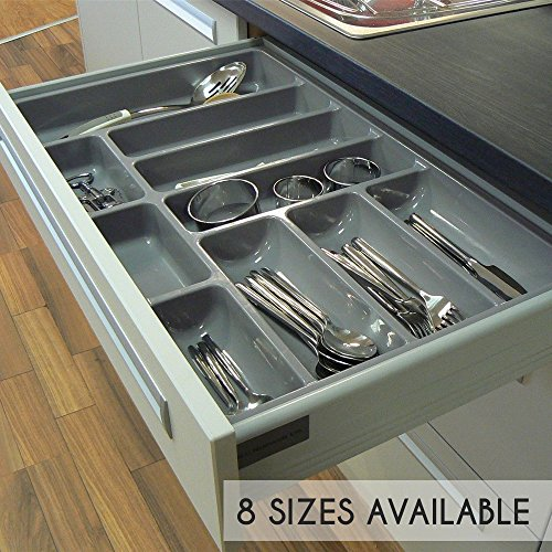 HILBRI High Quality Plastic Cutlery Tray For Kitchen Drawers, Various Sizes/Formations