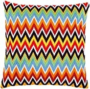 Long stitch cushion kit Zigzag lines