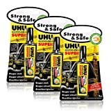3x UHU Alleskleber Super Strong & Safe 3g