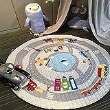 Nibesser Kinder Aufräumsack Spielmatte Spieldecke Spielzeug Speicher Tasche Aufbewahrung Beutel Spielzeugaufbewahrung für Kinderzimmer 59 Zoll (Autos)