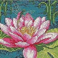 Dragon Lily Mini Needlepoint Kit-5