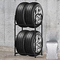SAILUN Tire Rack 56 x 41 x 101 cm Tire Rack para 4 neumáticos Storage Shelves Workshop Shelf Heavy Shelving Rim Rack (56 * 41 * 101 cm)