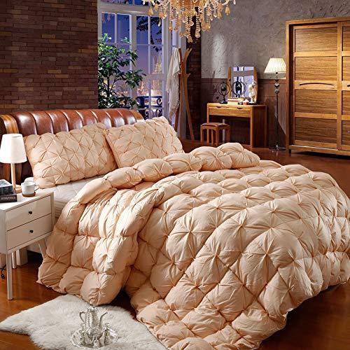 Kevin Bin Thread zählen alle Baumwolle Bettdecke 95{9ea5589d252c8ef76bef207217e73e54a465d100846c3be0edfd928c5a7f9086} weiße Gans samt Bettdecke 200 * 230 cm, doppelte Größe warme verdickte Bettdecke