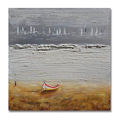 WJ-HOME Öl Malerei von Hand bemalt - Abstrakte Landschaft zeitgenössische Moderne Leinwand gehören Innerer Rahmen, 100 cm * 100 cm -