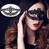 ZeWoo 12 PCS Sexy Femme Dentelle Masque Visage et Gants pour Carnaval Vénitien Masquerade Fête Costumée