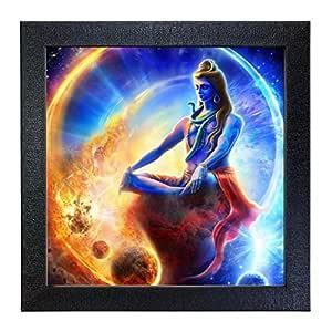 Sehaz Artworks 'Shiva' Wall Photo Painting (Carbon Fibre, 30 cm x 30 cm x 3 cm, SZA-Shiva_004)