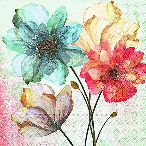 en Blumen gemalt (Portrait of flowers)1/4 gefalzt, 3-lagig Größe offen: 25x25 ()
