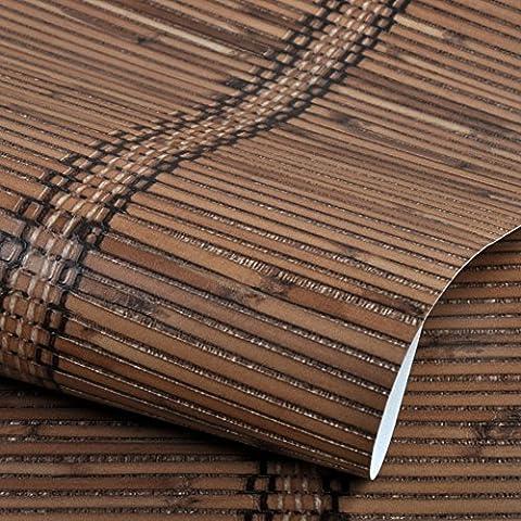 Papel pintado de bambú de bambú de imitación China moderna/ estilo chino japonés papel pintado de paja/ Den restaurante pared papel pintado-A