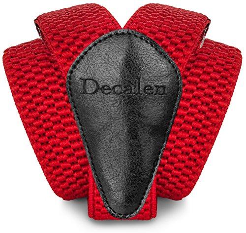 Decalen Hosenträger für Herren breit extra starken Clips Y Form Lang Eine Größe Passt Alle Männer und Damen Verschiedenen Farben (Rot) Polyester-jungen-clip