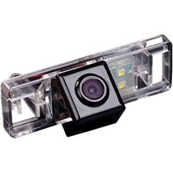 HDMEU HD Color CCD Impermeable Vehículo de Vista Trasera Cámara de Marcha Atrás, Ángulo de Visión 170 Grados que Invierte la Cámara para ...