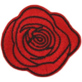 Westeng vestiti toppe termoadesive toppe da cucire rosa fiore ricamato  applique vestito giacca camicia jeans cappello borsa decorazione fai da te ec8c1fbe23b7