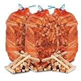 12kg of THE CHEMICAL HUT® Quality Wooden Kindling, ideal for Fire Starting Open Fires, Stoves, BBQ & Ovens - Comes with THE LOG HUT® Woven Sack.