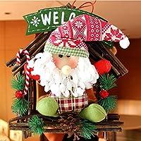 YUYU Decorazioni di Natale appeso decorazione ghirlanda di Natale ghirlanda vines