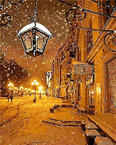 Luz del invierno de la nieve de la ciudad para la oficina...