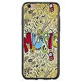 iPhone Hülle, Hozor Dünne Weiche TPU Silikon Handyhülle Schutztasche Back Cover Gemalt Geprägt Muster Schutzhülle Etui für Apple iPhone 6 / 6S, 4.7 zoll - Music