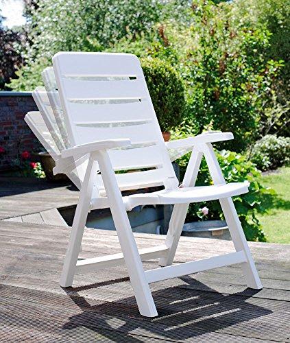 2 Kettler Nizza Gartenstuhl in weiß Klappsessel Gartenmöbel Sessel - Kettler Gartenmöbel