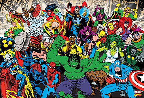 Fototapete Marvel Comics - Charaktere - Größe 158 x 232 cm, 2-teilig